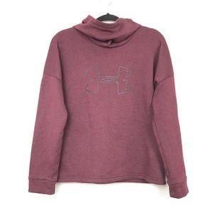 Under Armour Turtleneck Hood Sweatshirt Sz Medium